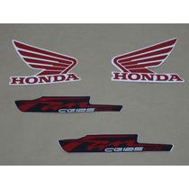 Kit Adesivos Honda Cg Fan 125 Ks 2012 Roxa - Decalx