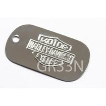 Placa Identificação Aço Inox P/ Dog Tag Harley Davidson