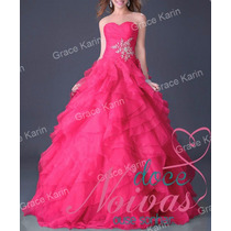 Pronta Entrega Vestido Debutante Pink P / Pp Novo Barato
