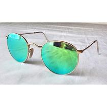 Óculos Ray Ban 029 Round Verde Espelhado 12x Sem Juros
