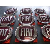 Kit Emblema Vermelho Original Fiat Palio Celebration Economy