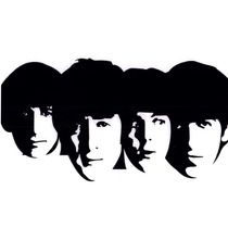 Adesivo Banda The Beatles - Decoração, Parede, Portas, Amps