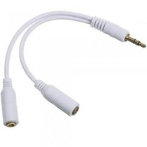 Cabo Duplicador Splitter Fone P2 J2 Apple Ipod Iphone Ipad