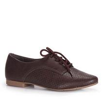 Sapato Oxford Feminino Via Marte - Cafe