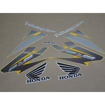 Kit Adesivos Honda Cbx Twister 250 2007 Amarela - Decalx