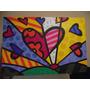 New Day - Releitura De Romero Britto - Painel 60x90 Cm