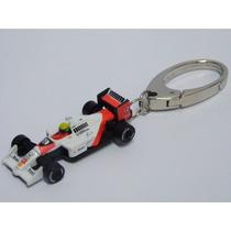 Chaveiro Ayrton Senna Replica F1 Mclaren Mp4/4 Keychain Toy