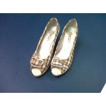 Sapato Dijean Xadrez Com Fivela