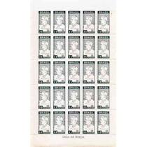 Papel Marmorizado-folha Inteira 25 Selos Nº 536y-leoncio Cor