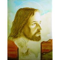 Tela Quadro Retrato Jesus Cristo Sacro Religioso Santa Ceia