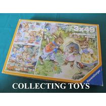 Quebra Cabeça - Puzzle - Coelhinhos - Infantil - 3 X 49 Pçs