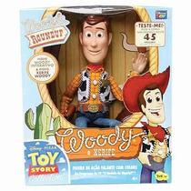 Woody Que Fala Português Padrão De Luxe Toy Story 3 Novo