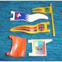 Brq - Playmobil Bandeiras Medievais 5 Pçs - Todas Diferentes