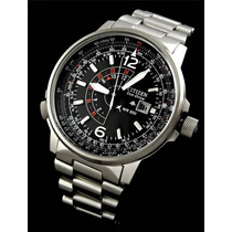 Relógio Citizen Nighthawk Aviator Bj7010-59e - Ecodrive!