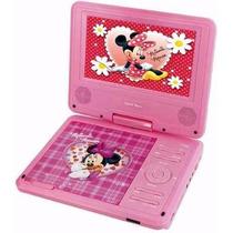 Dvd Portátil Infantil Disney Minnie 7 Pol. Tv Controle Jogos