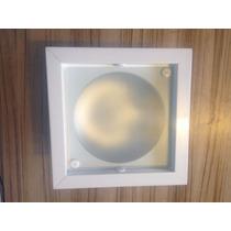 Luminaria De Teto De Embutir Quadrada P/2 Lampadas