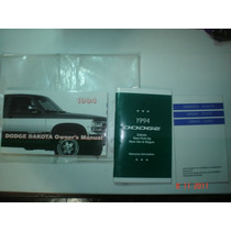 Manual Dodge Dakota 1994 Original Chrysler Proprietario V8