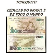 Brasil - 100000 Cruzeiros - C230 - Fe - Cédula Com Mancha