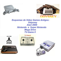 Esquemas De Odyssey, Atari 2600, Super Nintendo E Mega Drive