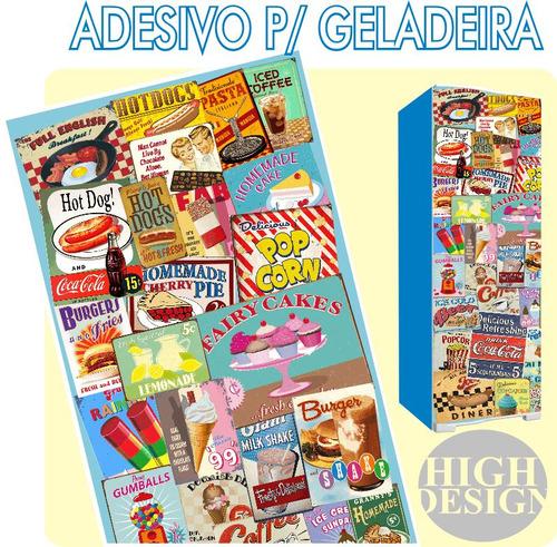 Armario Lavabo Baño ~ Kit Adesivo Envelopamento Skin Geladeira Placas Antigas