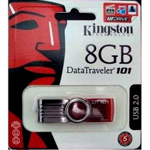 Pen Drive 8gb Kingston Dt101giratório Lacrado 100% Original