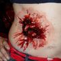 Kit Maquiagem De Terror Halloween Com Sangue Falso E Massa