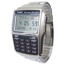 Relógio Casio Dbc-32d Aço Databank 25 Fones Bateria 10 Anos