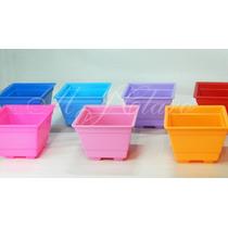 50 Vasinhos Quadrado Plástico Para Artesanato Lembrancinhas