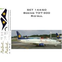 Rbx Decais-set Decais Boeing 737-300 Rio-sul