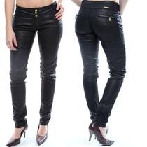 Calça Sawary Jeans Resinada Com Elástico Na Cintura Colorida