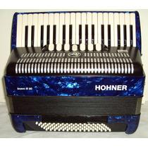 Acordeon Hohner Bravo 80 Baixos 4ª De Voz Azul C/ Bag 5632