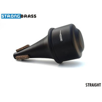 Surdina Strong Brass Straight Brushed Aluminum Trompete