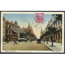 Postal Circulado 1915 Rio De Janeiro Avenida Rio Branco