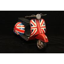 Miniatura Lata Moto Vespa Lambreta Inglaterra
