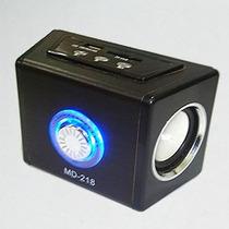 Mini Caixa De Som Mp3 Sd Usb Pen Drive Controle Recarregável