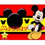 Kit Mickey Vermelho E Preto + Desenha Convites + Cartões