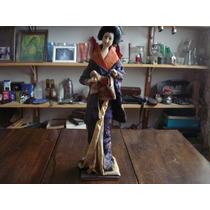 Boneca Antiga Gueixa Japonesa - Industria Brasileira