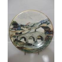 B. Antigo - Prato Em Porcelana Pintado A Mão E Assinado