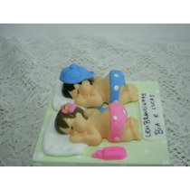 Lembrancinhas Maternidade Chá De Bebe Gemeos Caixa De Mdf