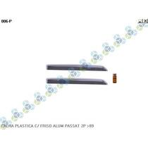 Calha Plastica C/ Friso Aluminio Passat 2p /89