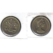 Inglaterra - Moeda De 1 Libra De 1.983 - Rainha