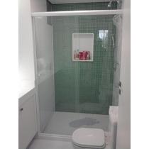 Box Para Banheiro De Vidro Temperado Incolo 8,0mm Instalado