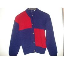 Casaco De Lã Em Trico Feito Á Mao Tam P