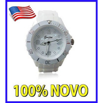 Relógio Branco Ice Modelo Swatch Promoção Envio 24hs