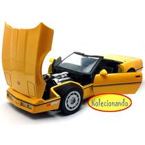 Motor Max 1:24 - 1986 Chevrolet Corvette Convertible Amarelo