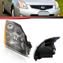 Farol Nissan Sentra 07 08 09 Foco Simples Máscara Cinza
