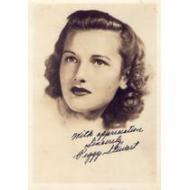 Antiga Fotografia Autografada Da Atriz Peggy Stuart