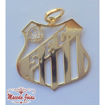 Pingente Em Prata Banho De Ouro Time Santos Futebol Clube