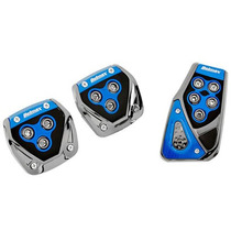 Pedaleiras Esportivas Azul Para Carro Tunning - Kit 3 Peças