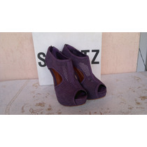 Salto Meia Pata Nobuck Grape Wine Schutz N°39